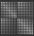 monochrome halftone background set vector image vector image