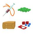 narcotic and medical logo vector image vector image