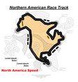 northern american track road vector image vector image