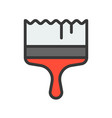 paintbrush fillled outline icon handyman tool and vector image
