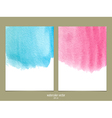 Pink and blue watercolor vector image vector image
