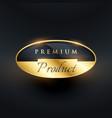 premium product badge golden label design vector image vector image