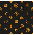 ramadan islam holiday icons seamless pattern eps10 vector image vector image