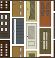 realistic room doors pattern vector image