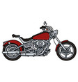 red heavy chopper vector image vector image