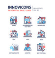 residential sale and lease - line design icons set vector image vector image