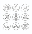 retirement outline icon vector image vector image