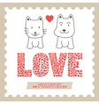 Romantic card15 vector image vector image