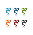 s foot logo template vector image vector image