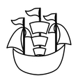 sailboat toy isolated icon vector image vector image