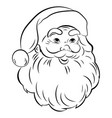 Santa claus face portrait santa black white