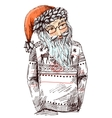 Santa dressed in knitted sweater vector image