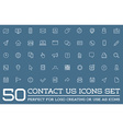 set contact us service elements and assistance vector image