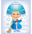 Snow maiden vector image vector image