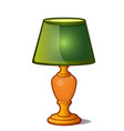 table lamp with green shade in vintage style vector image vector image