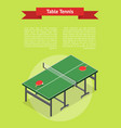table tennis game banner card isometric view vector image vector image