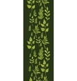 Textured green Leaves Vertical Seamless Pattern vector image