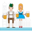the symbol oktoberfest in munich germany vector image