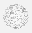 unconditional love round in vector image vector image