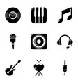 voice recording icons set simple style vector image vector image
