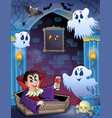 wall alcove with halloween theme 5 vector image vector image
