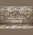 wedding invitation card beautiful lace vector image vector image