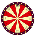 wheel of fortune gambling sign roulette vector image