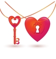 with key and heart keyhole vector image vector image