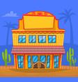 yellow building in town facade exterior design vector image