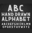hand drawn doodle sketch alphabet letters vector image
