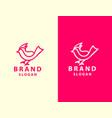 abstract bird logo design template linear style vector image vector image