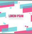 abstract geometric pattern background style design vector image vector image