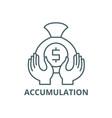 accumulation line icon accumulation vector image