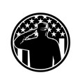 american veteran soldier or military serviceman vector image