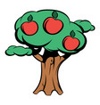 apple tree icon cartoon vector image