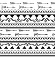 arrows tribal black and white seamless pattern vector image