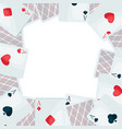 background with four aces playing cards suit vector image vector image