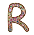 Beautiful letter R vector image