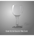 Blank transparent photo realistic isolated on grey vector image vector image