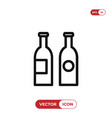bottles icon vector image vector image