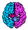 brain two halves whole vector image