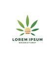 cannabis hive hemp marijuana leaf logo vector image vector image