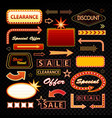 classic retro signboards neon sign motel vector image vector image