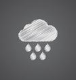 cloud rain sketch logo doodle icon vector image vector image