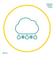 cloud rain snow line icon graphic elements for vector image