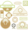 cotton labels vector image vector image