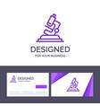 creative business card and logo template lab vector image vector image