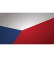 czech flag vector image vector image