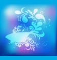 decorative fish silhouette vector image