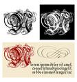 decorative gothic letter n uncial fraktur vector image vector image
